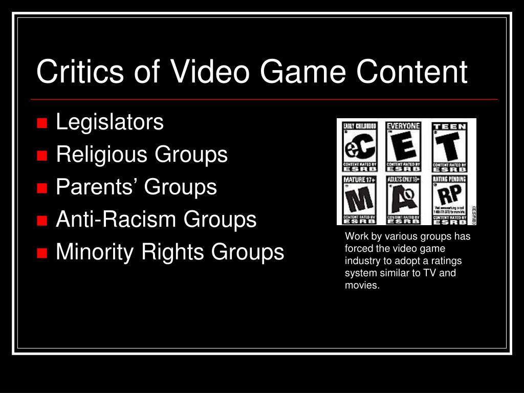 Critics of Video Game Content