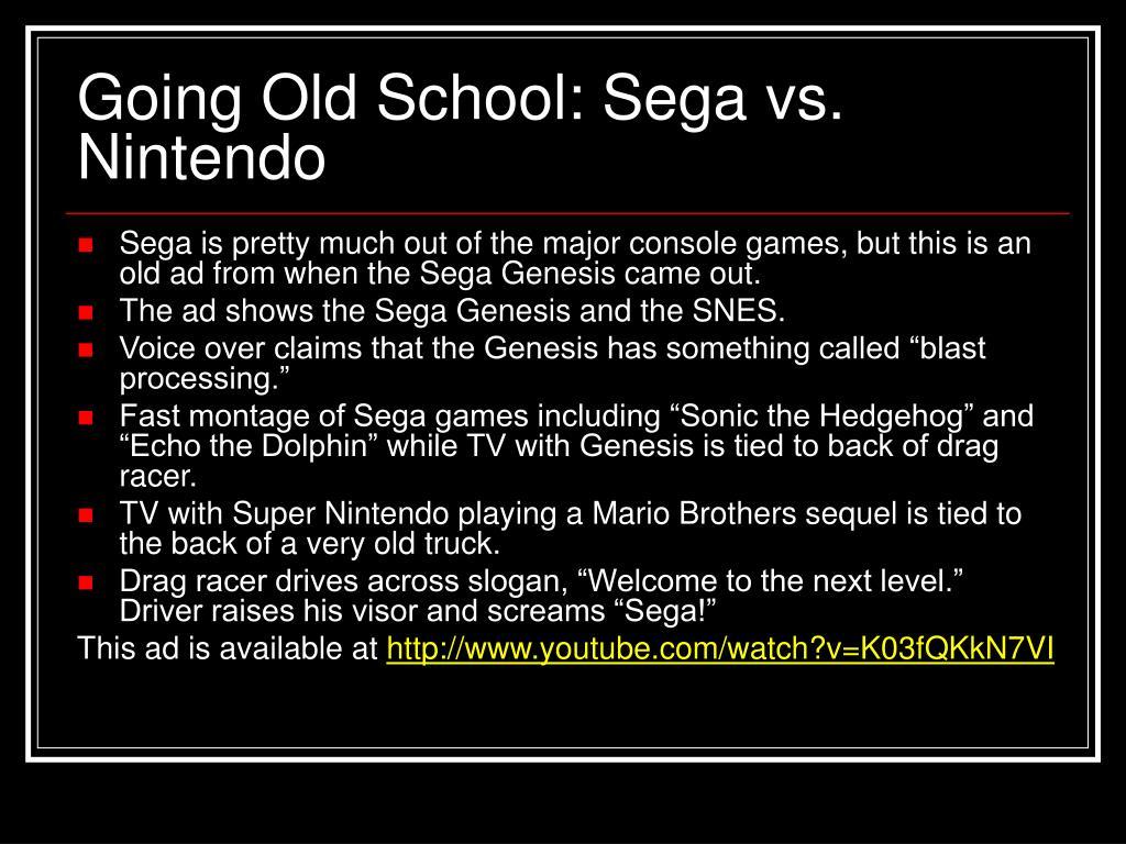 Going Old School: Sega vs. Nintendo