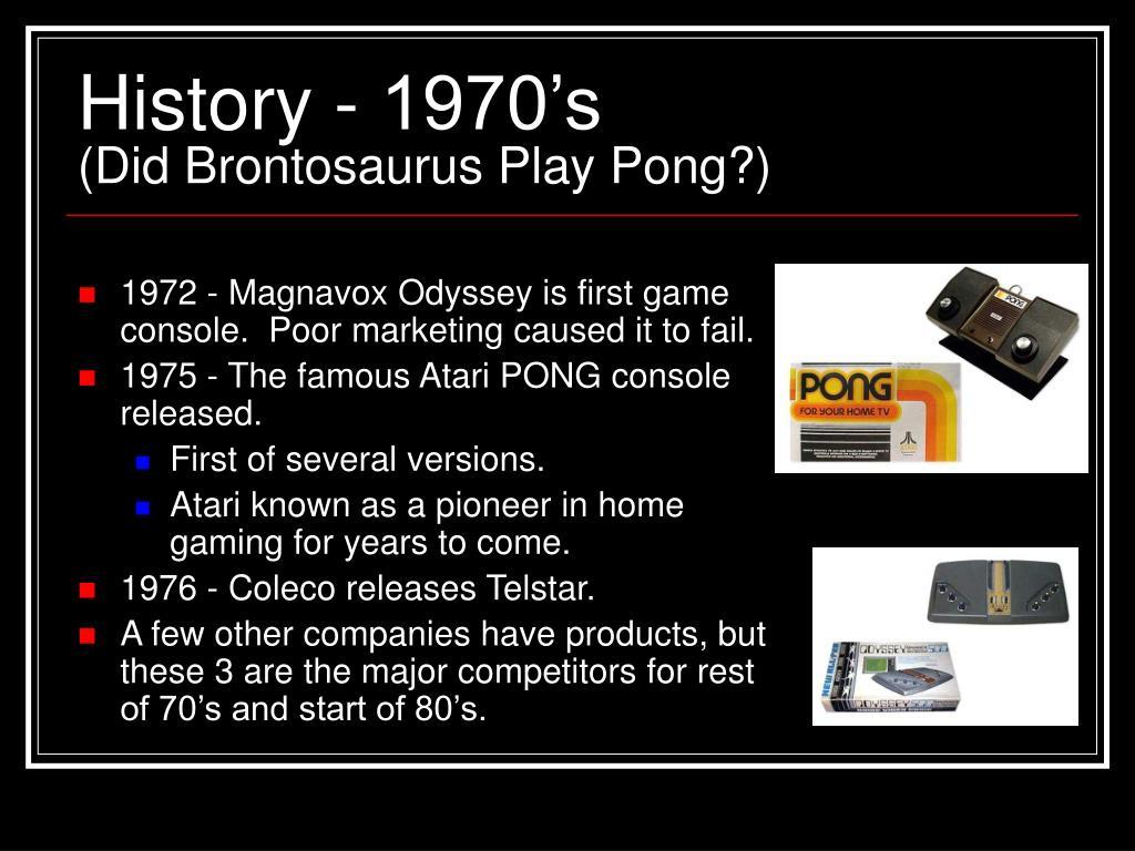 History - 1970's