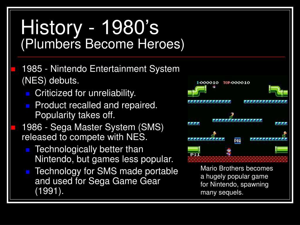 History - 1980's