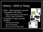 history 2000 to today