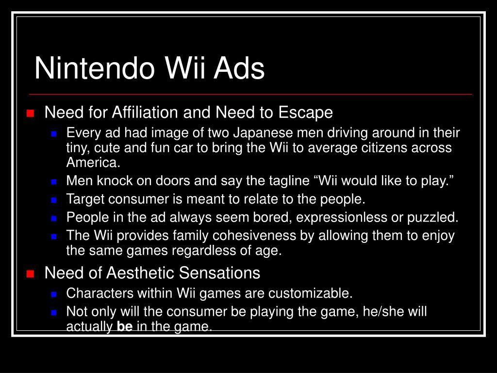 Nintendo Wii Ads