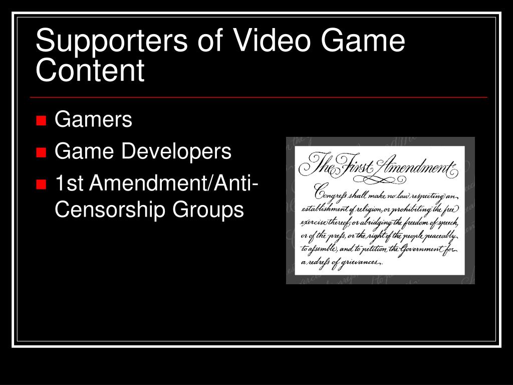 Supporters of Video Game Content