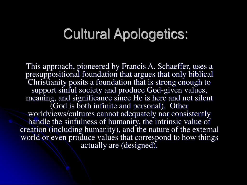 Cultural Apologetics: