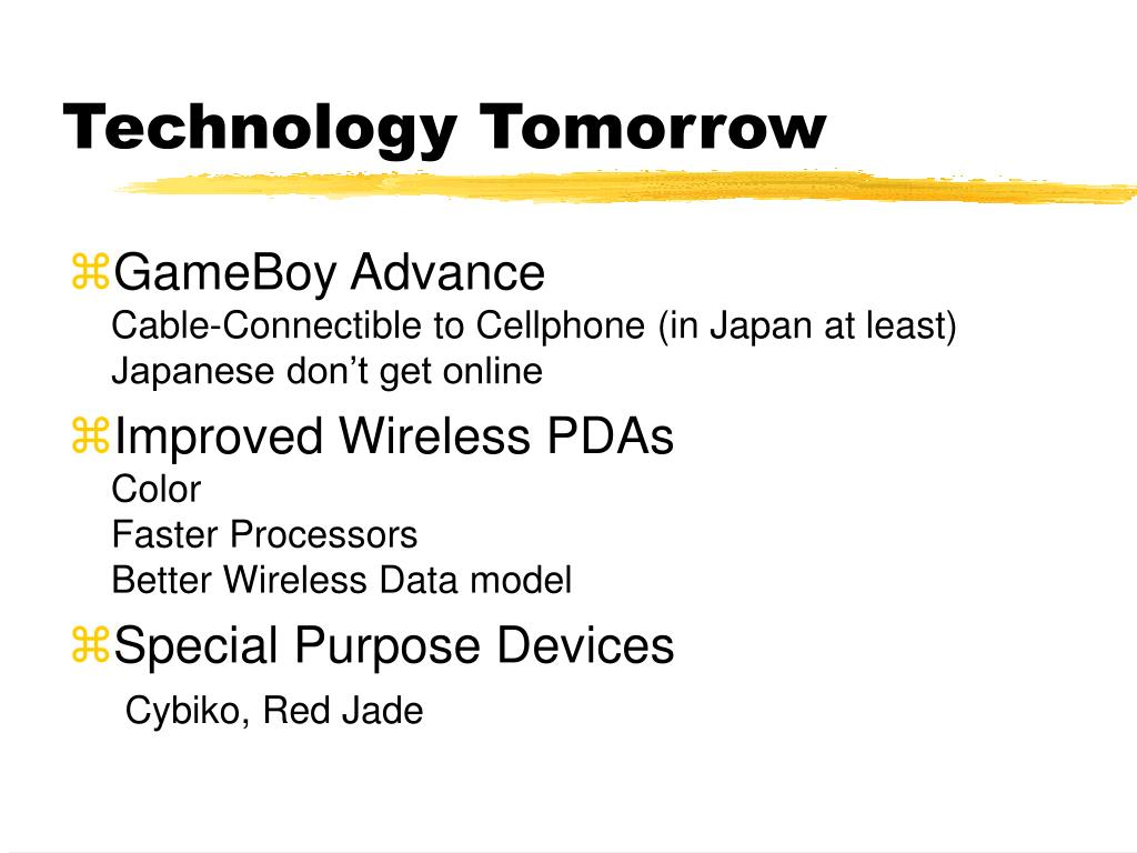 Technology Tomorrow