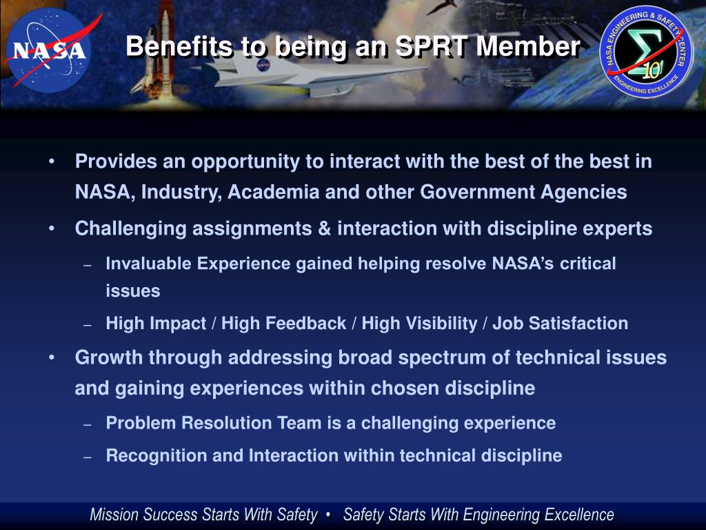Benefits to being an SPRT Member