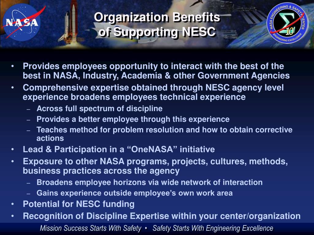 Organization Benefits