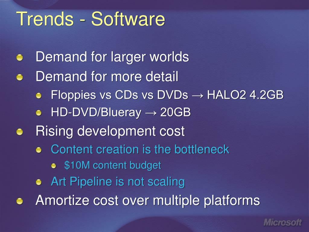 Trends - Software