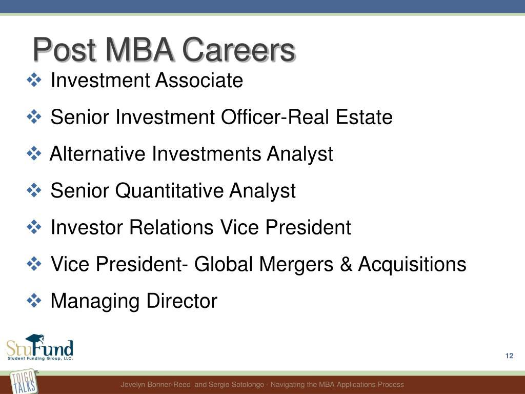 Post MBA Careers