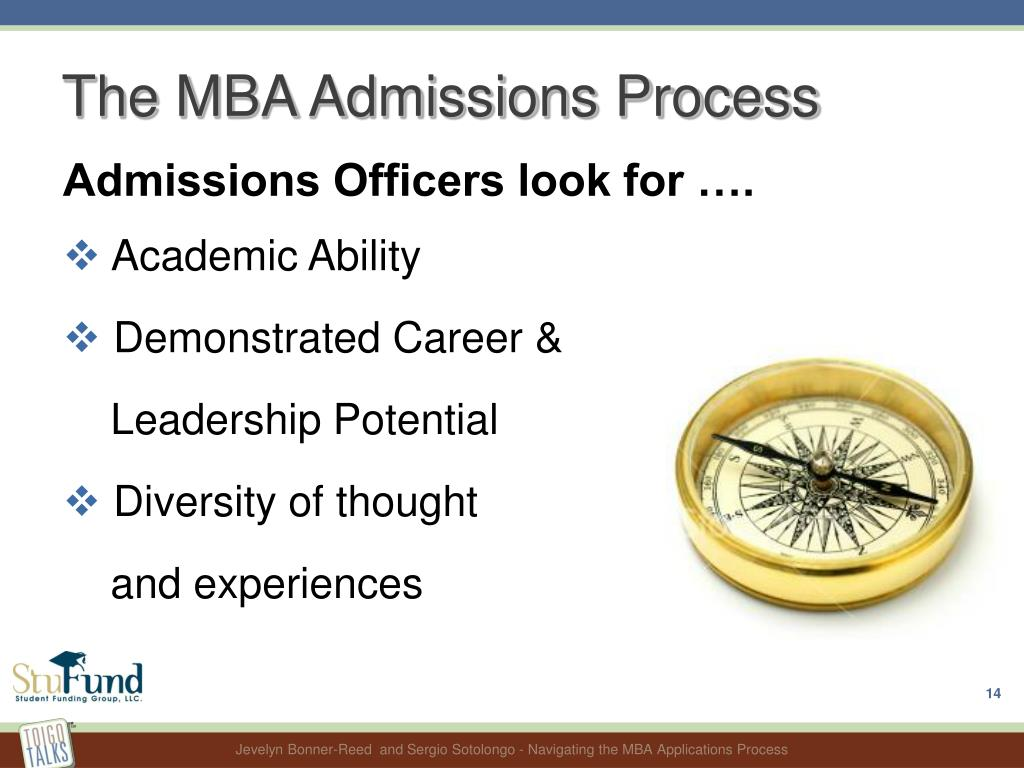 The MBA Admissions Process