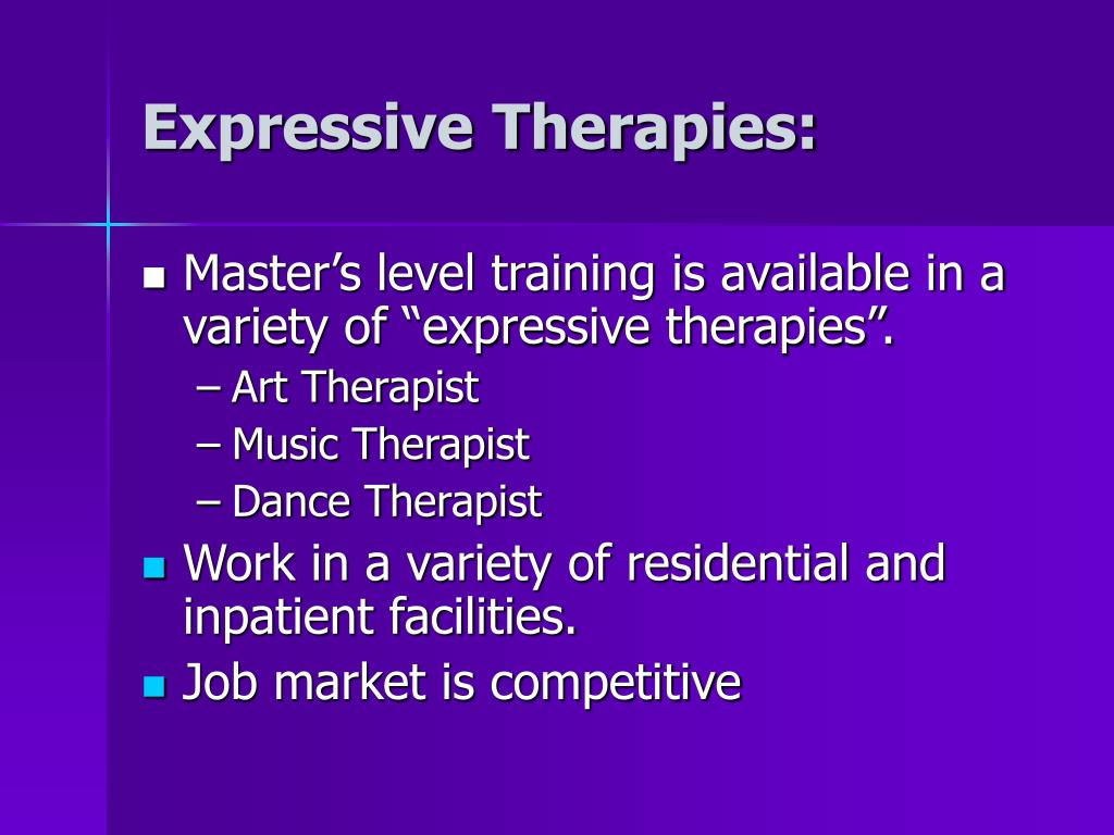 Expressive Therapies: