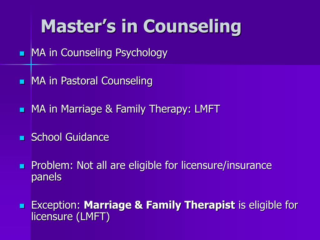 Master's in Counseling