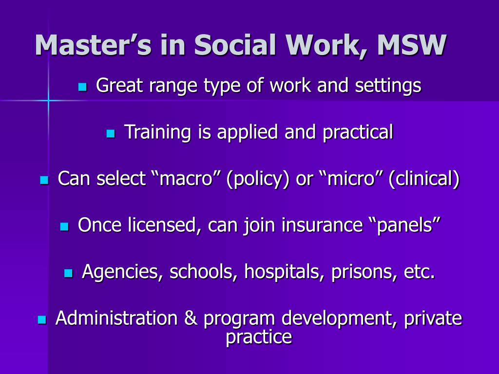 Master's in Social Work, MSW
