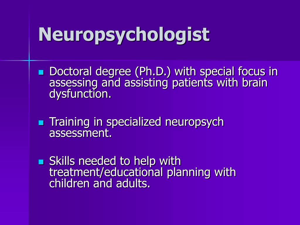 Neuropsychologist