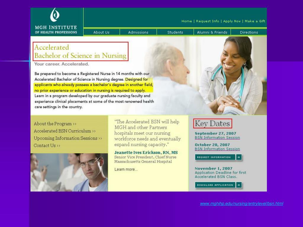 www.mghihp.edu/nursing/entrylevel/bsn.html