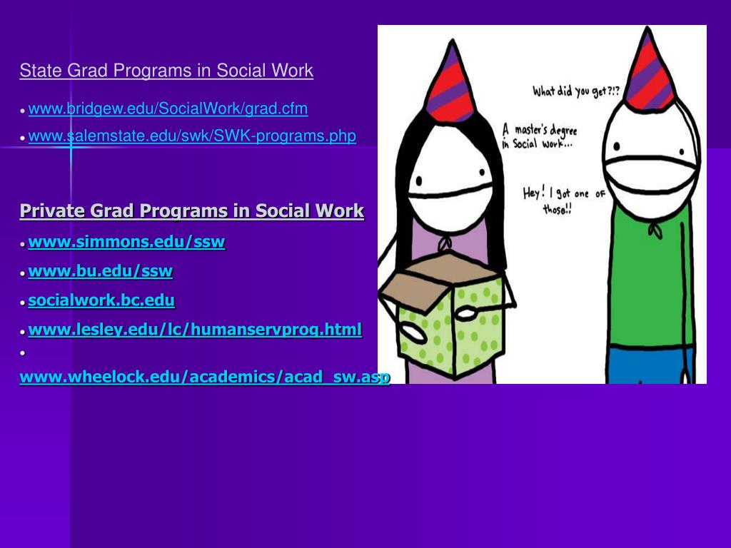 State Grad Programs in Social Work