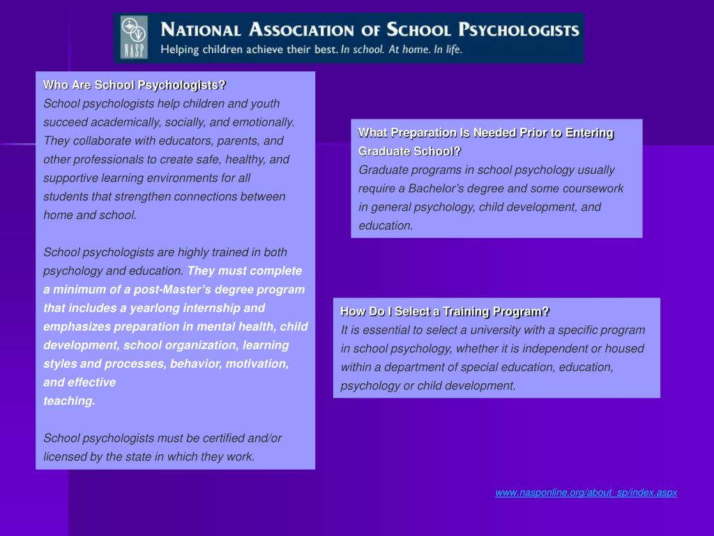 Who Are School Psychologists?