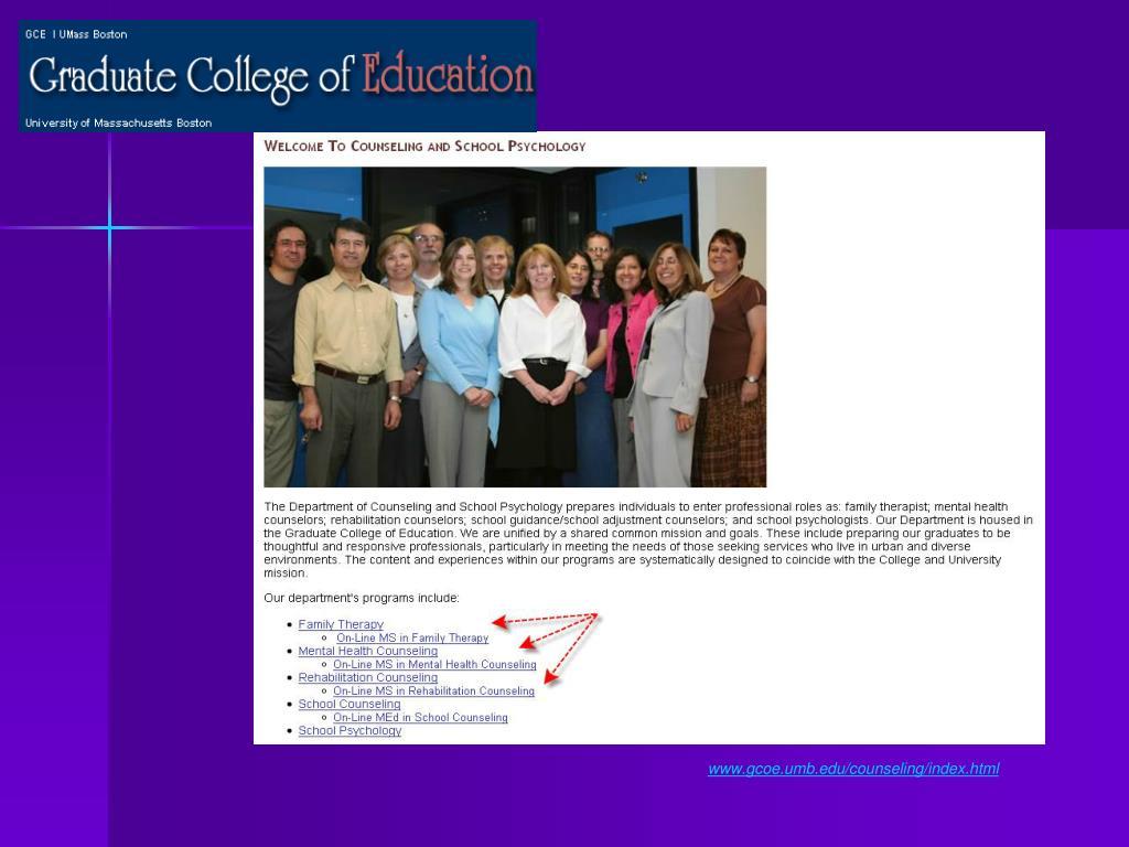 www.gcoe.umb.edu/counseling/index.html