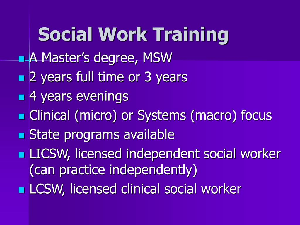 Social Work Training