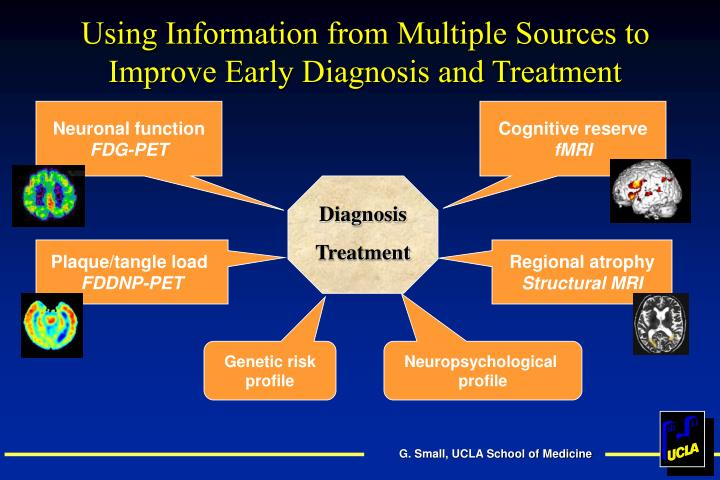 Using Information from Multiple Sources to Improve Early Diagnosis and Treatment