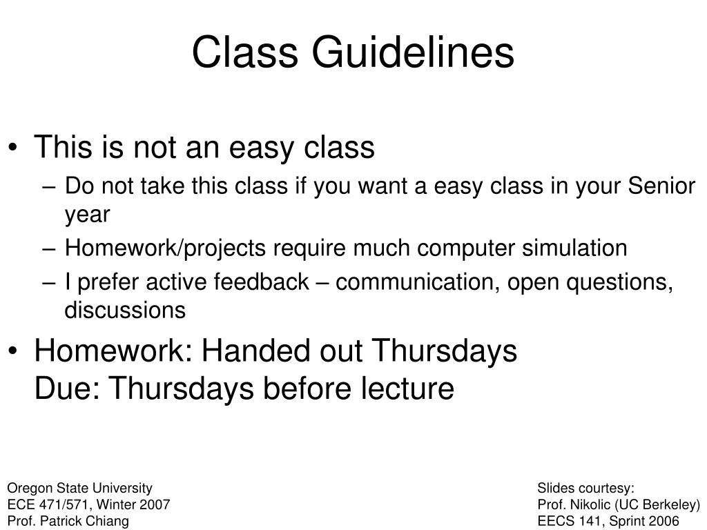 This is not an easy class