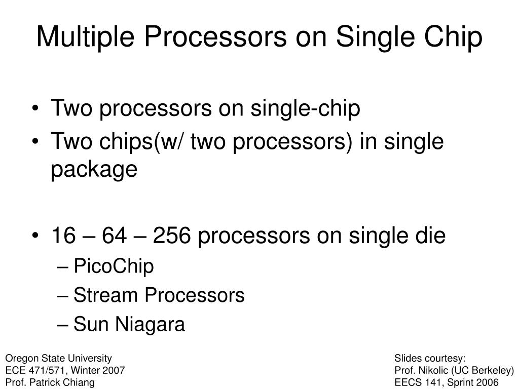 Two processors on single-chip
