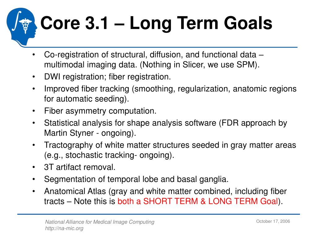 Core 3.1 – Long Term Goals