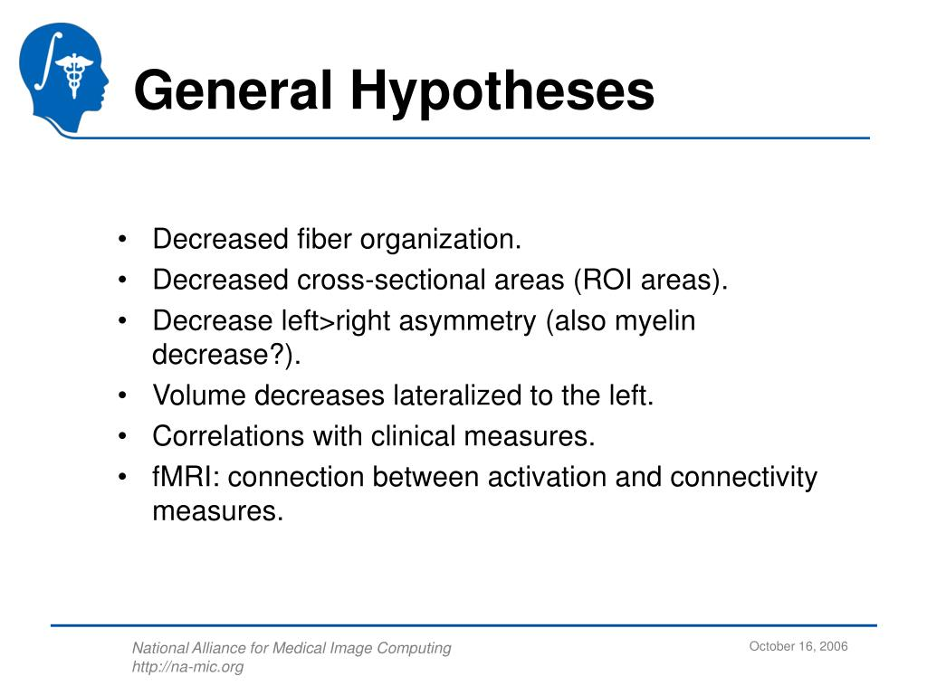 General Hypotheses