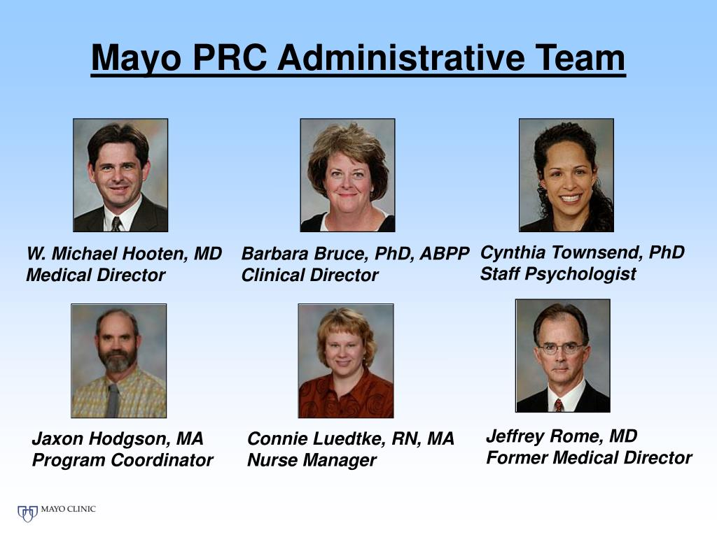 Mayo PRC Administrative Team
