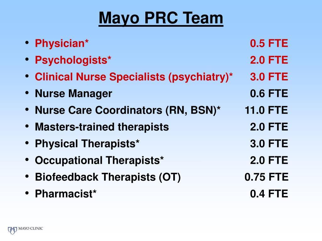 Mayo PRC Team