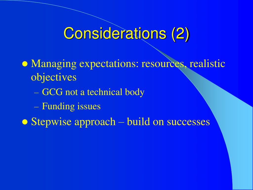 Considerations (2)