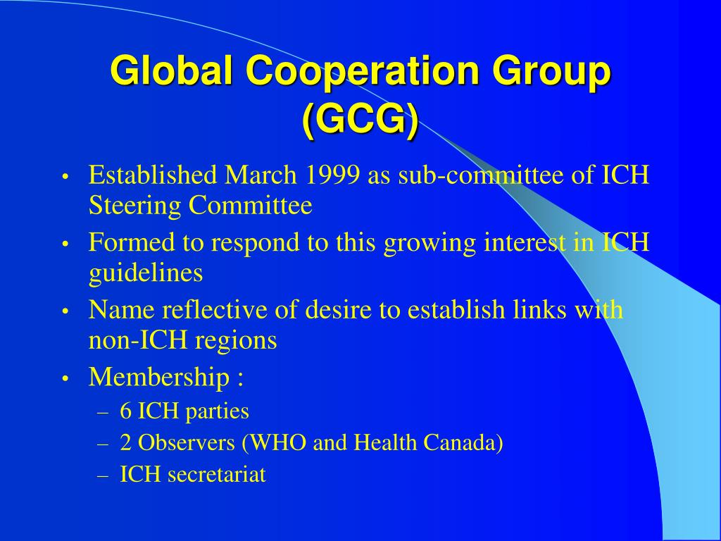 Global Cooperation Group (GCG)