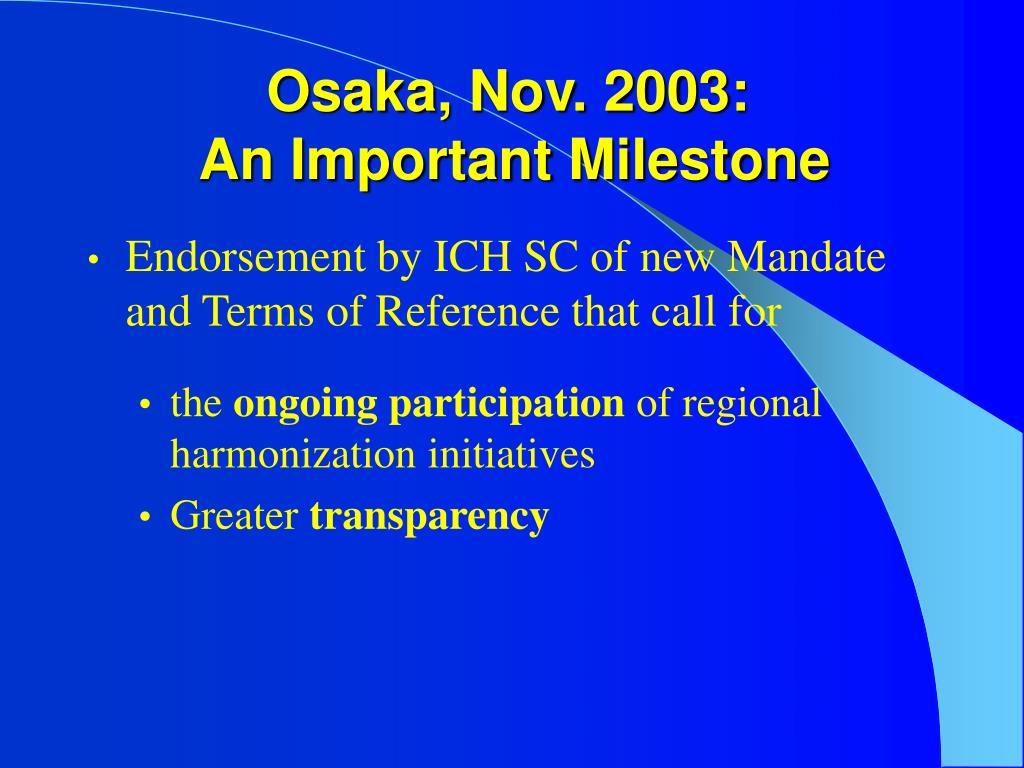 Osaka, Nov. 2003: