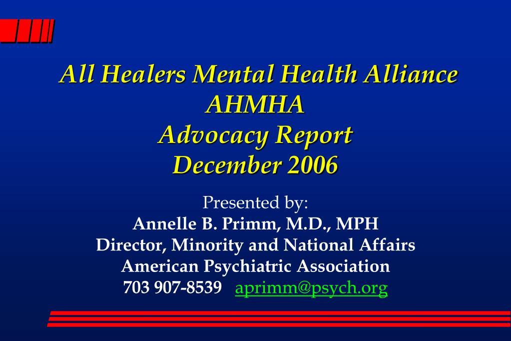 All Healers Mental Health Alliance