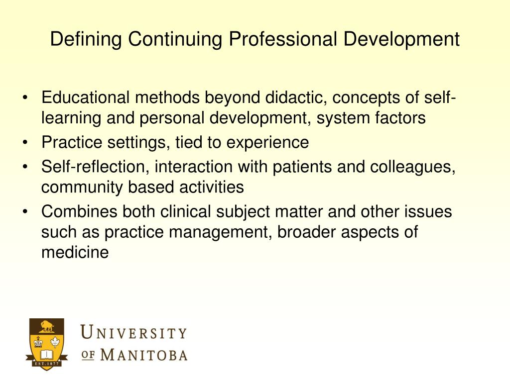 Defining Continuing Professional Development