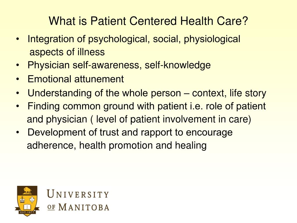 What is Patient Centered Health Care?