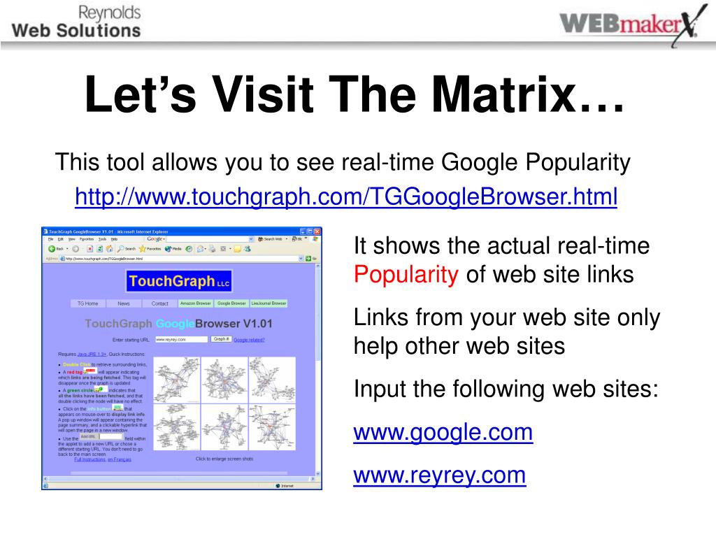 Let's Visit The Matrix…