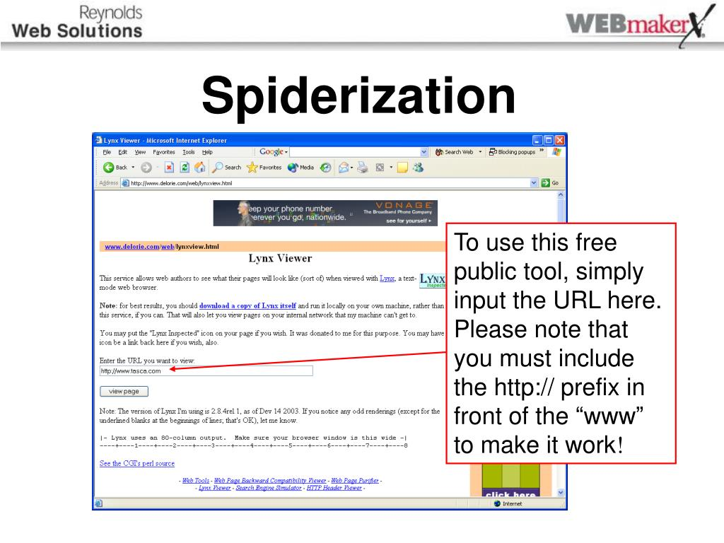 Spiderization