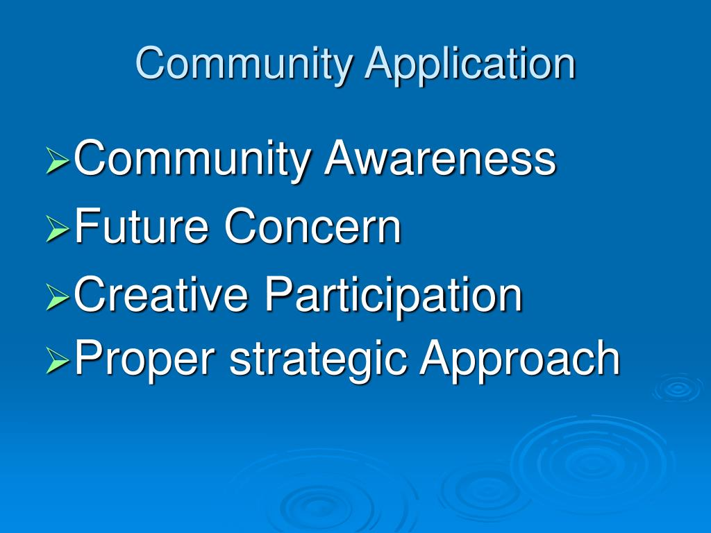 Community Application