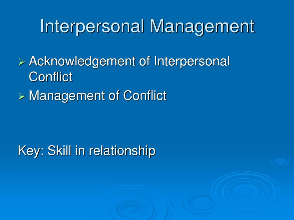 Interpersonal Management