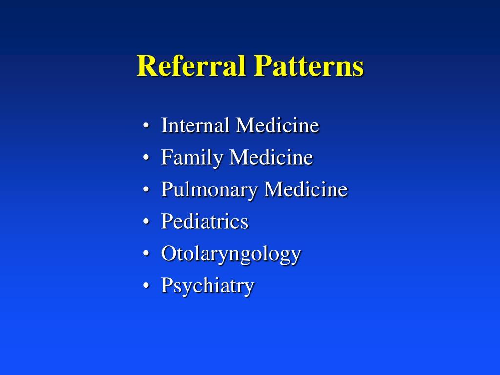 Referral Patterns