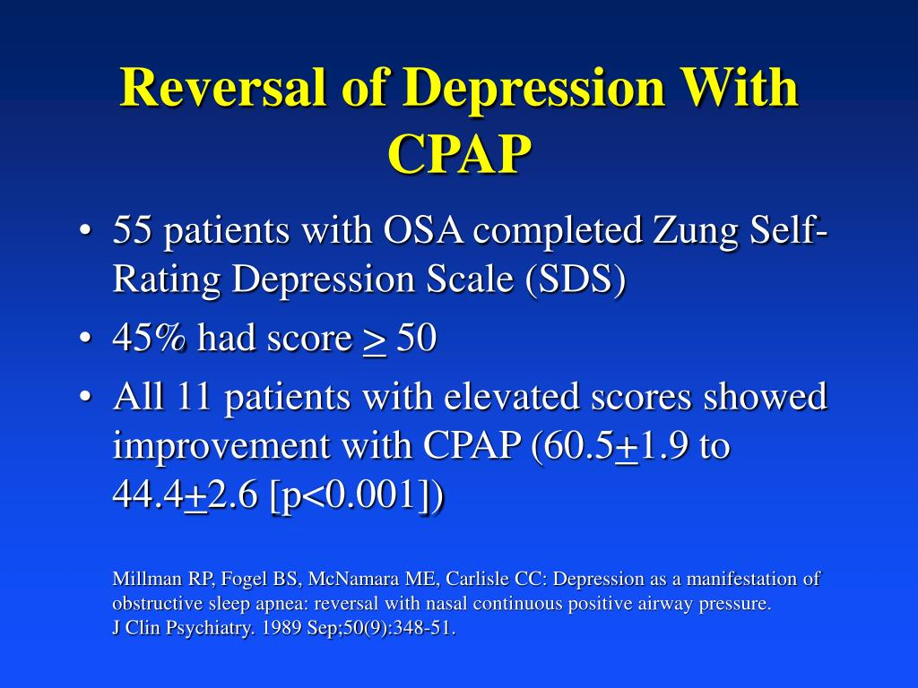 Reversal of Depression With CPAP