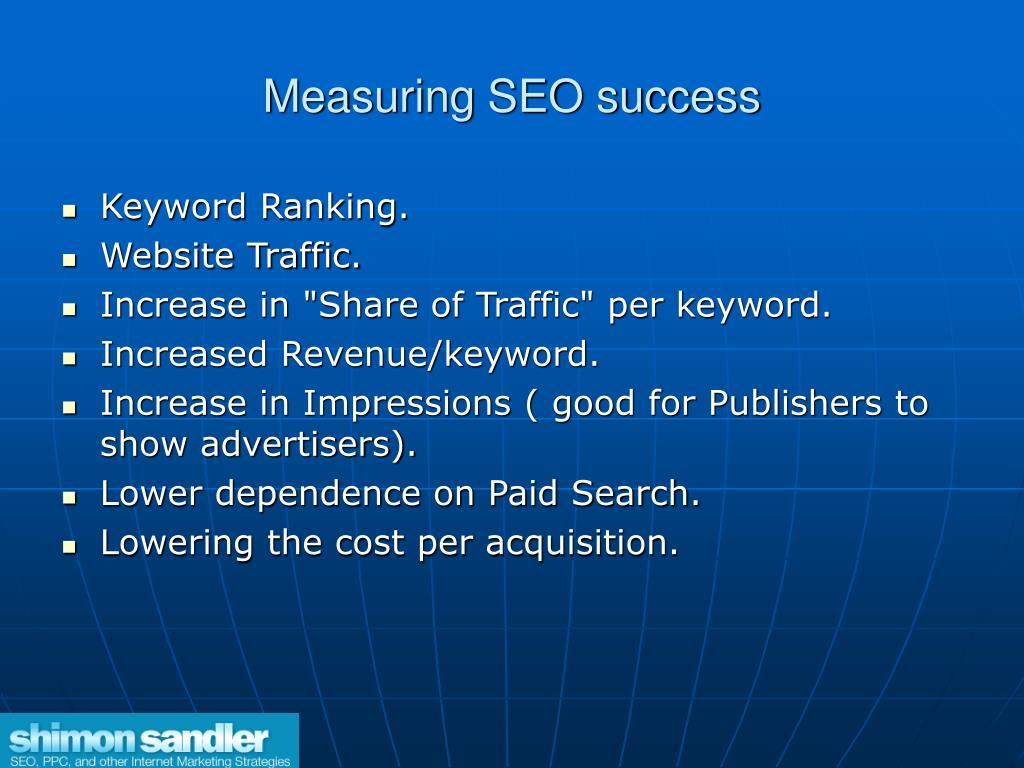 Measuring SEO success