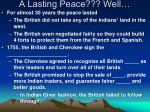 a lasting peace well