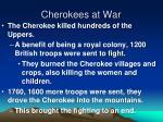 cherokees at war
