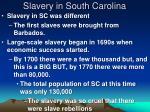 slavery in south carolina
