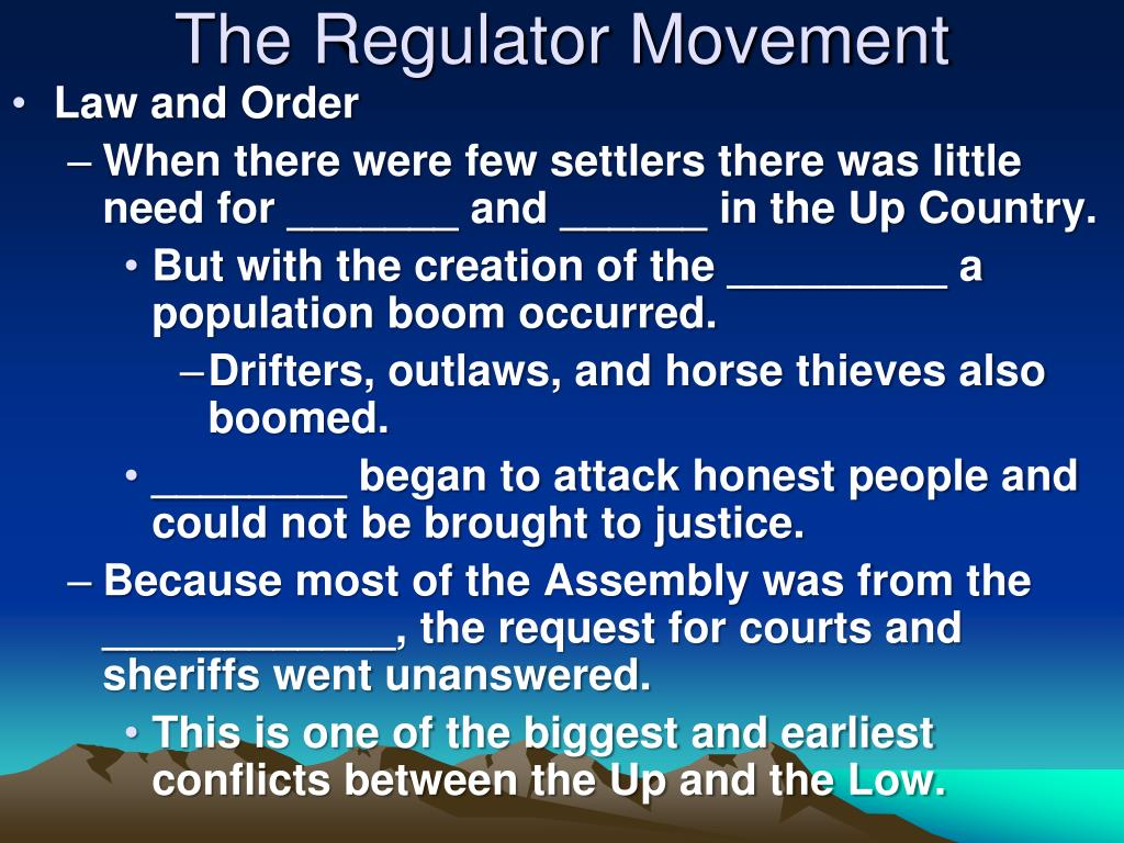 The Regulator Movement