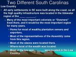 two different south carolinas