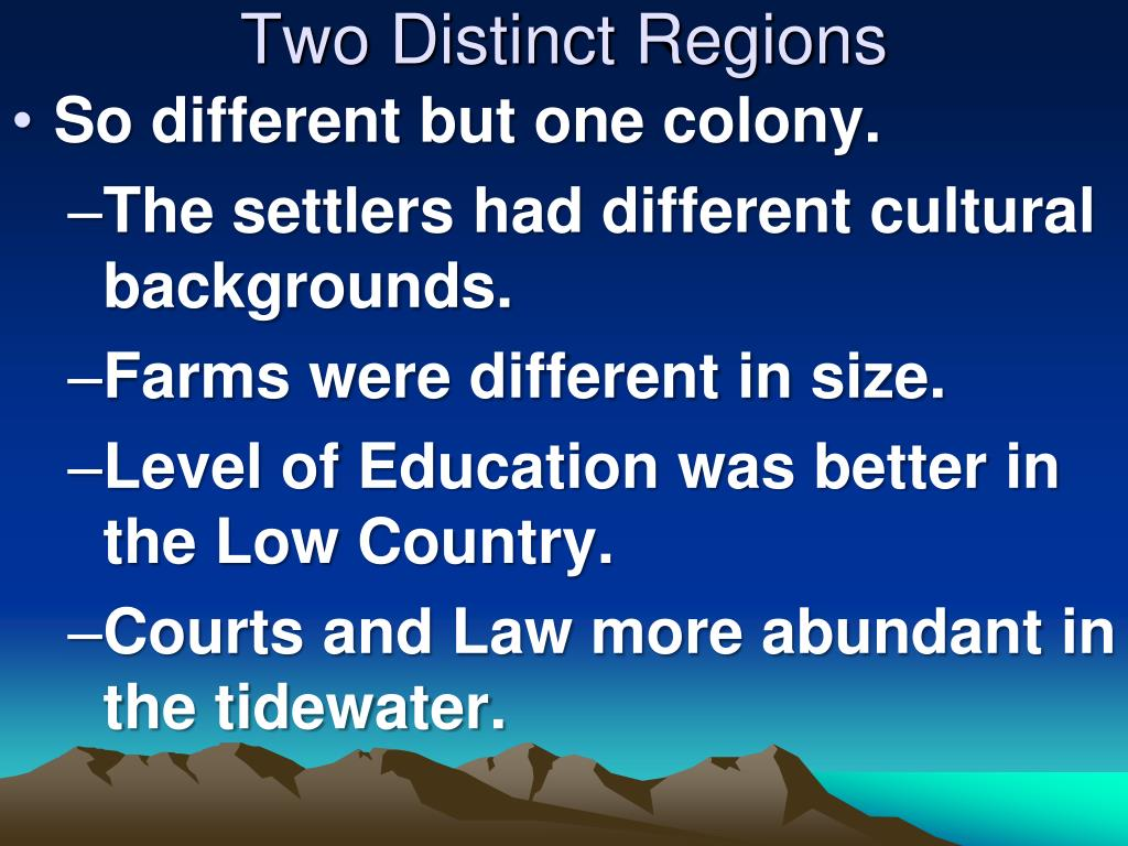 Two Distinct Regions