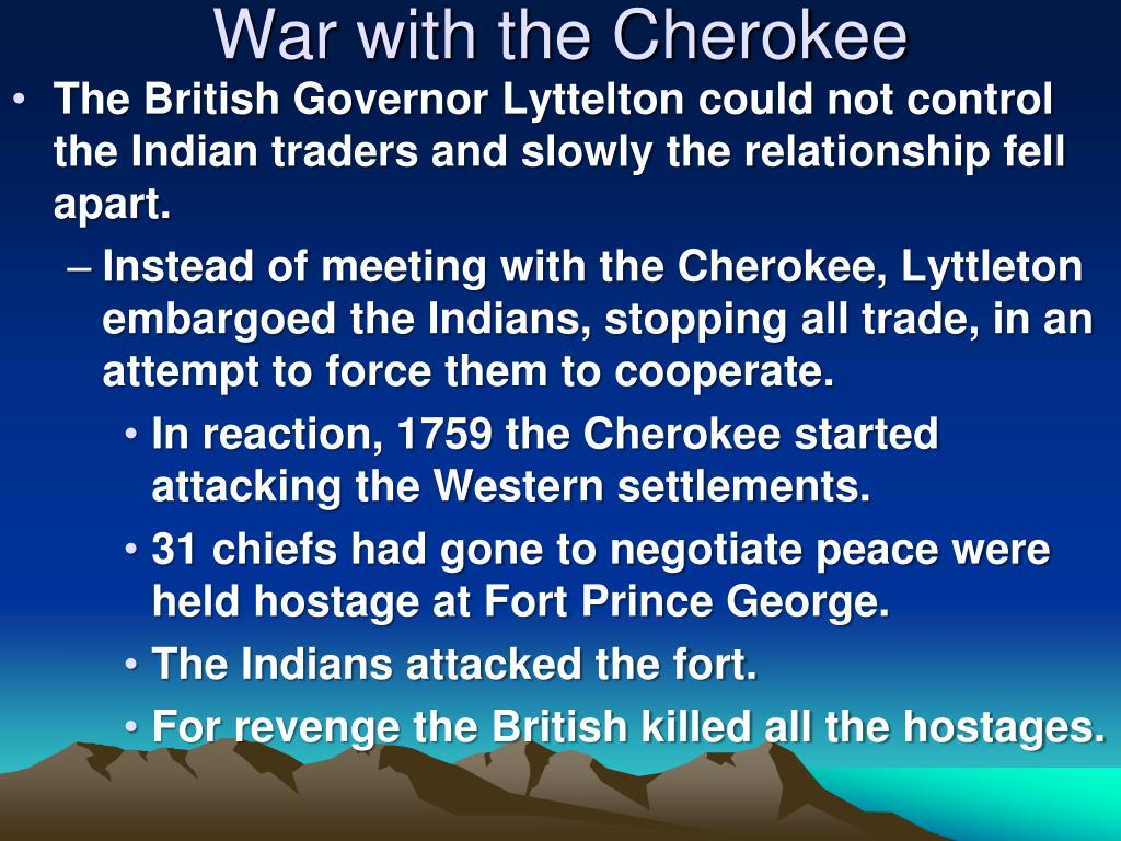 War with the Cherokee